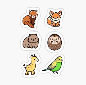 Cute Animal Sticker Pack 6
