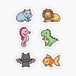 Cute Animal Sticker Pack 8