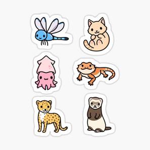 Cute Animal Sticker Pack 14