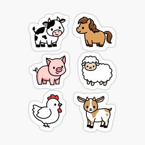 Farm Animal Sticker Pack