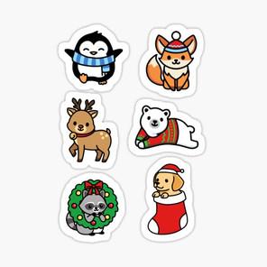 Holiday Animal Sticker Pack