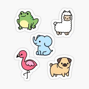 Cute Animal Sticker Pack 4