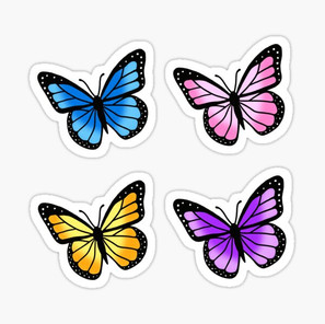 Colorful Butterfly Sticker Pack