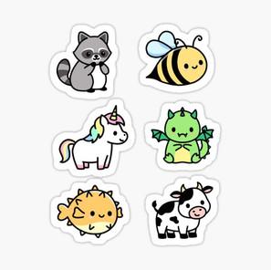 Cute Animal Sticker Pack 5