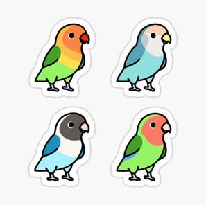 Lovebirds Sticker Pack