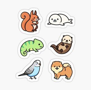 Cute Animal Sticker Pack 7