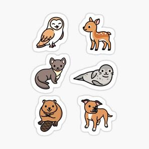 European Animal Sticker Pack