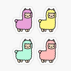 Colorful Alpaca Sticker Pack