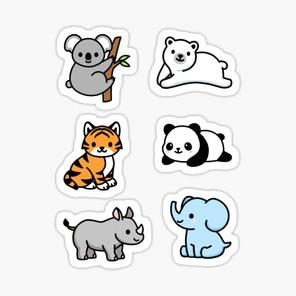 Endangered Animal Sticker Pack