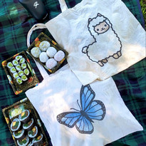 Totes | Alpaca and Blue Butterfly
