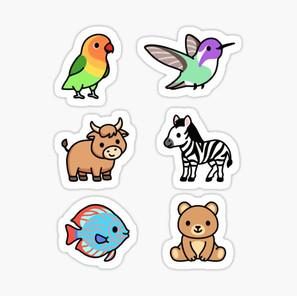 Cute Animal Sticker Pack 13