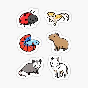 Cute Animal Sticker Pack 10