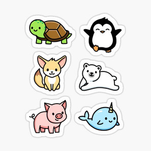 Cute Animal Sticker Pack 1