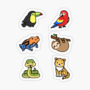 Tropical Animal Sticker Pack