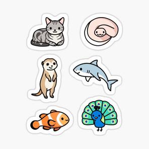 Cute Animal Sticker Pack 11