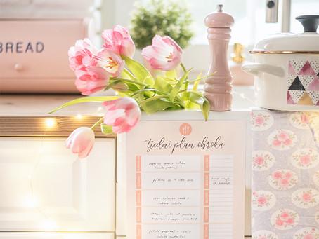 Tjedni plan obroka - besplatan PDF