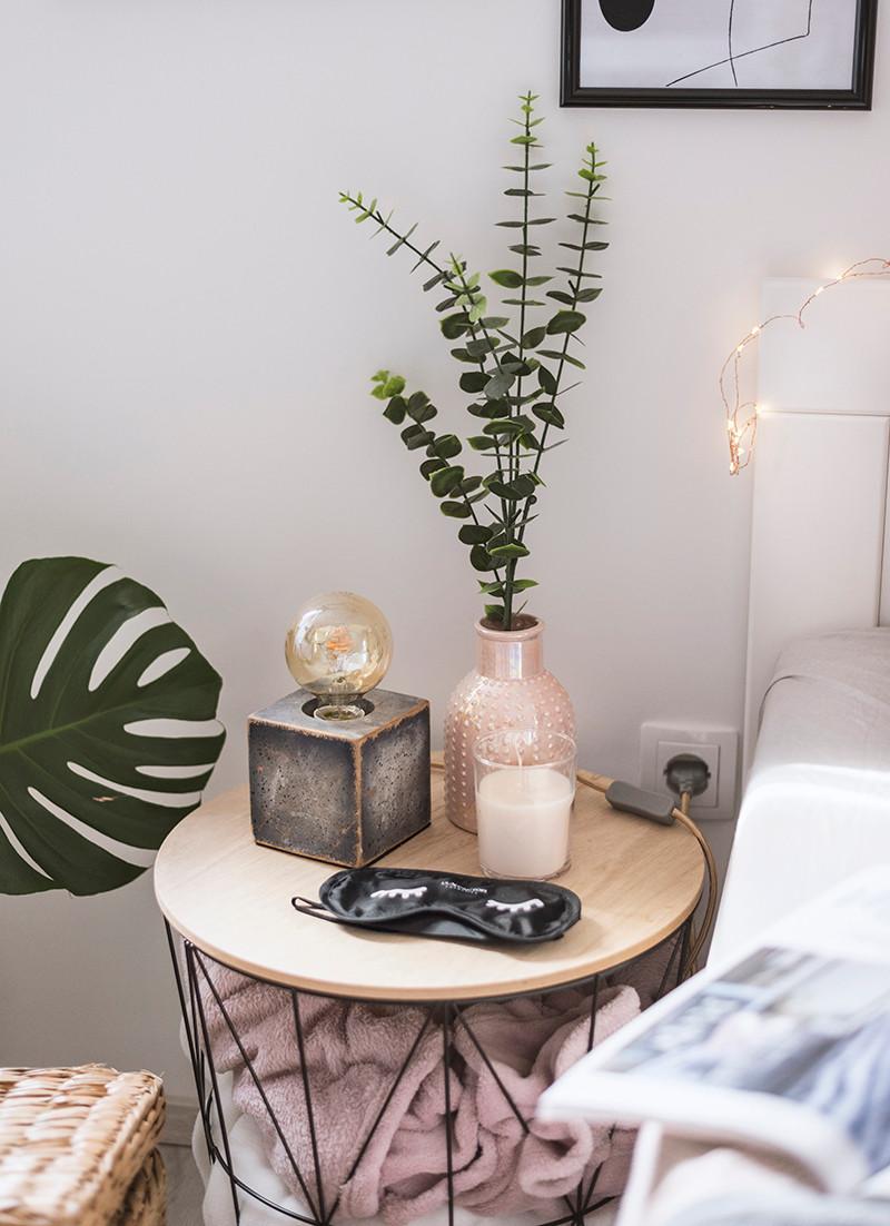 uređenje doma, noćni ormarić,spavaća soba,eukaliptus