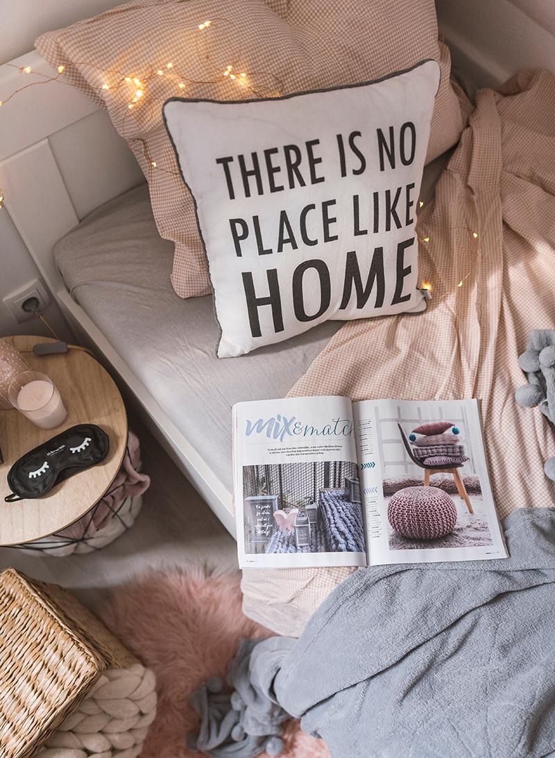 krevet, inspiracija za uređenje doma, gostinjska soba, jastuci, emmezeta