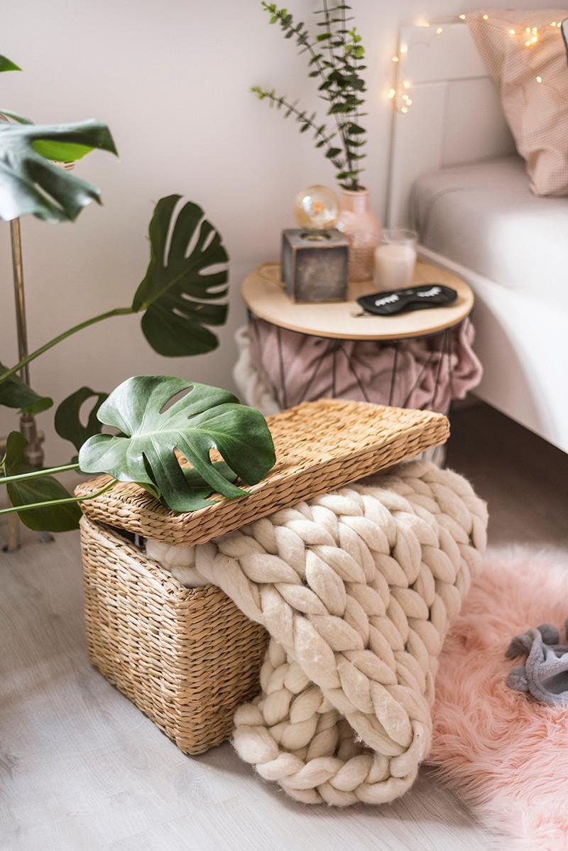 biljke,uređenje doma, pletena košara,spavaća soba,eukaliptus