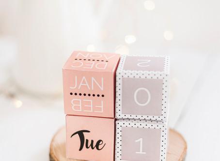 DIY Ledaboss Cube Calendar