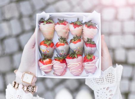 Pastel strawberries