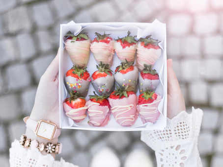 Pastel strawberries