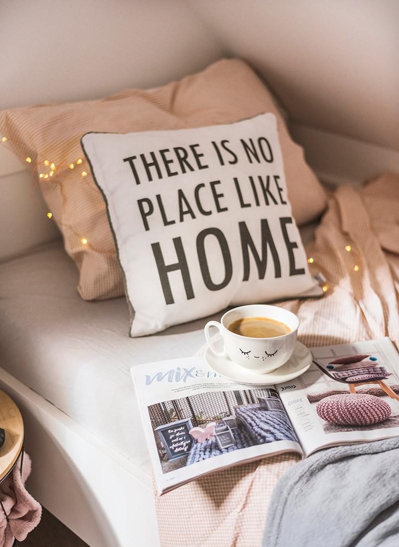 spavaća soba za goste, inspiracija,krevet,kava