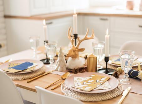 Blagdanska pastelna dekoracija stola