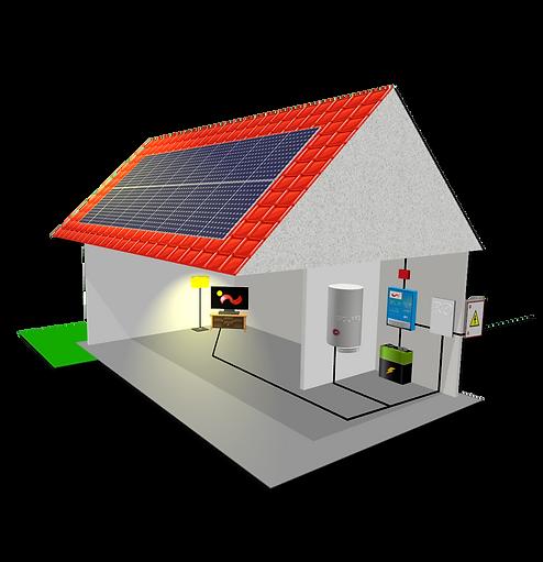 Ohřev vody, Fotovoltaická elektrárna, Solars company-picture