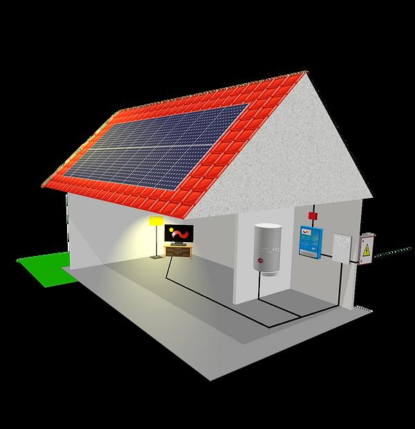 Ohřev vody, Fotovoltaická elektrárna, Solars-picture