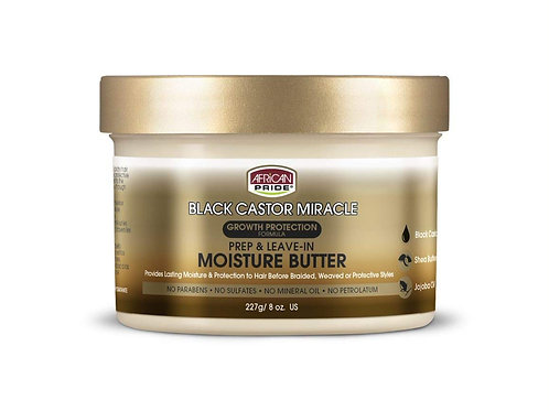 African Pride Black Castor Miracle Prep & Leave-In Moisture Butter