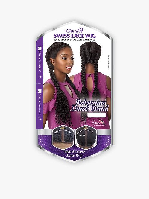 Sensationnel Cloud9 Swiss Lace Bohemian Dutch Braid Wig