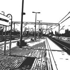 Wdok z peronu na Wieże Defektu.jpg