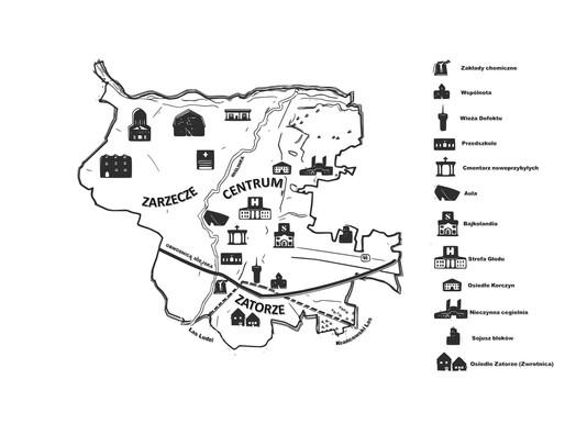 Pierwsza wersja mapy