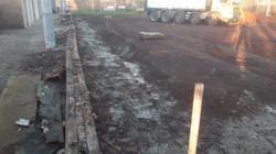 013 Ook hier komen betontreden zoals bij baan 1