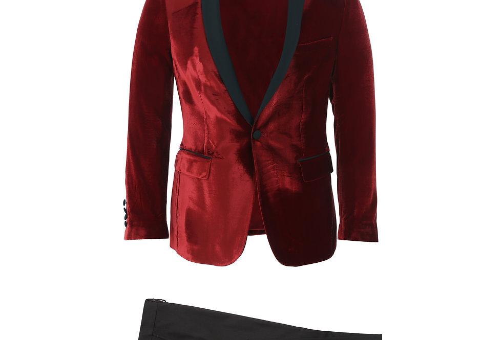 Red Velvet Shawl Tuxedo