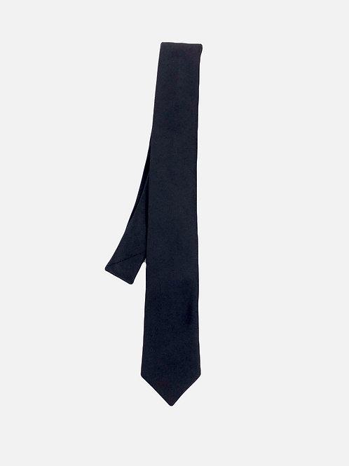 Solid Black Neck Tie