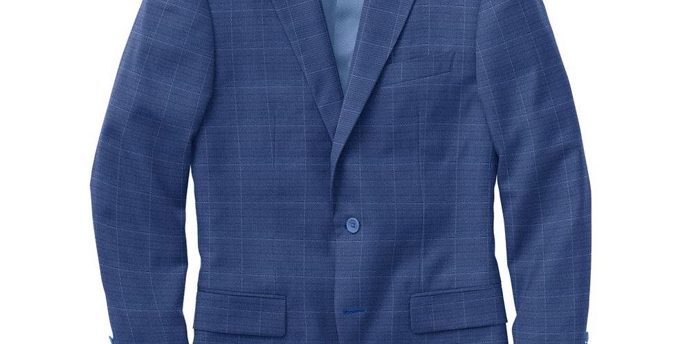 Debonair Royal Blue Windowpane Suit