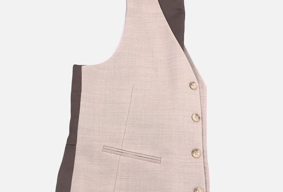 Tan Wool 4 Button Vest
