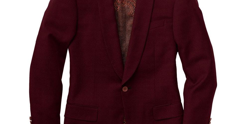Debonair Wine Red Velvet Tuxedo Jacket
