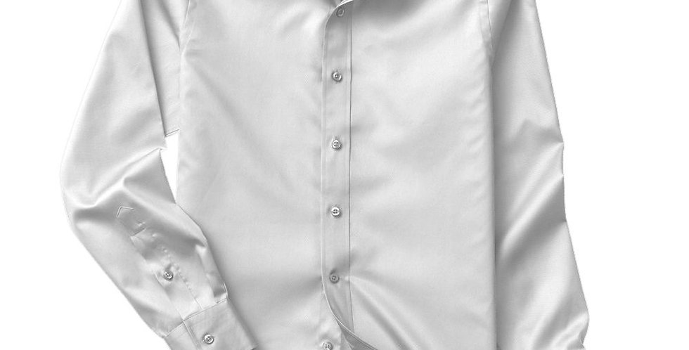 White Twill Solid Shirt
