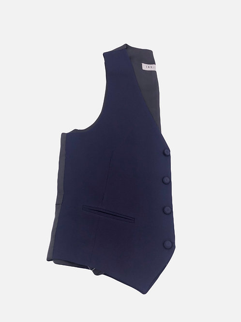 Navy Blue Wool 4 Button Vest