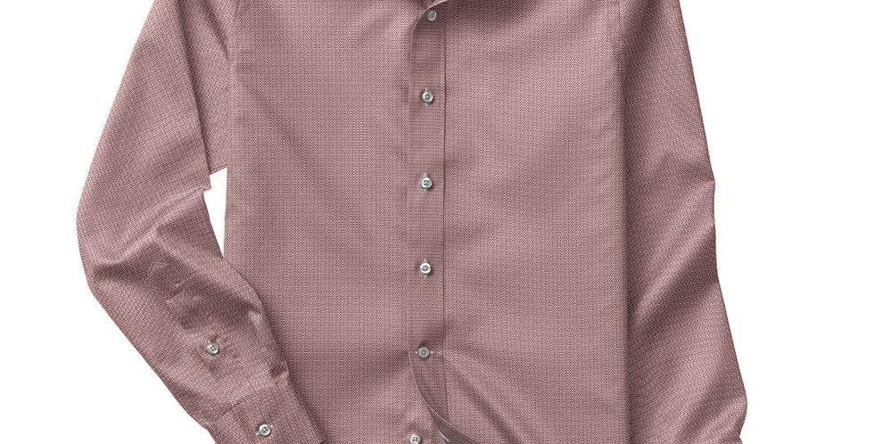 Red Mirco Dobby Shirt