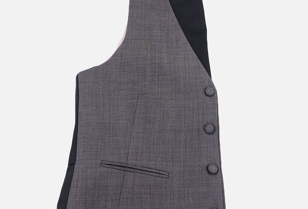 Skarkskin Grey 4 Button Vest