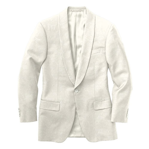 Debonair White Paisley Jacquard Tux