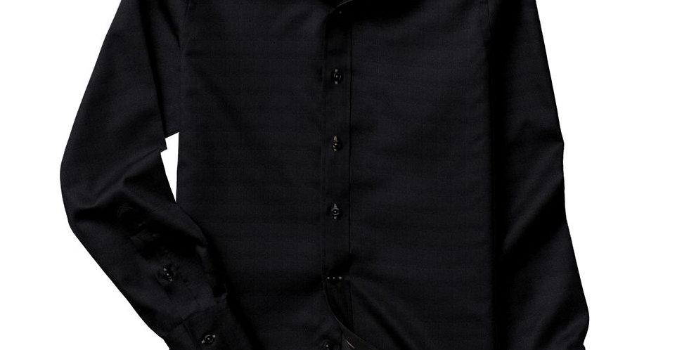 Black Fine Twill Shirt