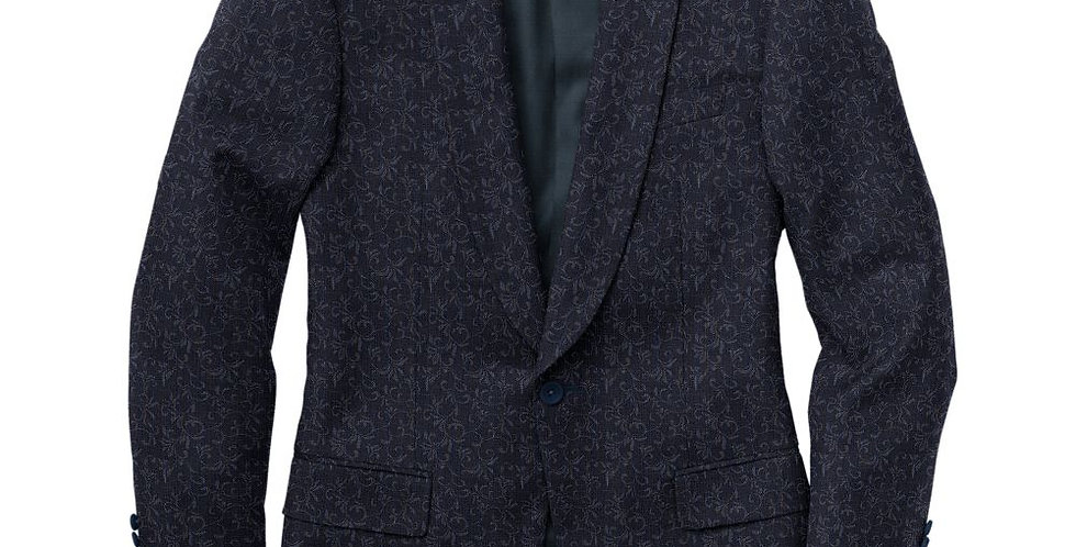 Debonair Charcoal Paisley Tux Jacket