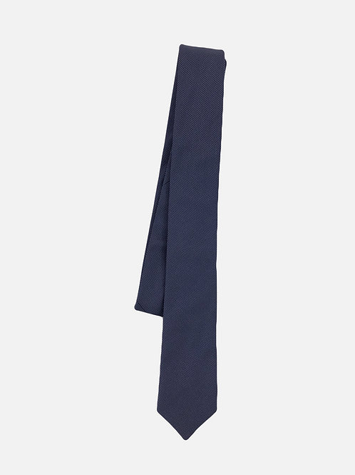 Pin Dot Navy Neck Tie