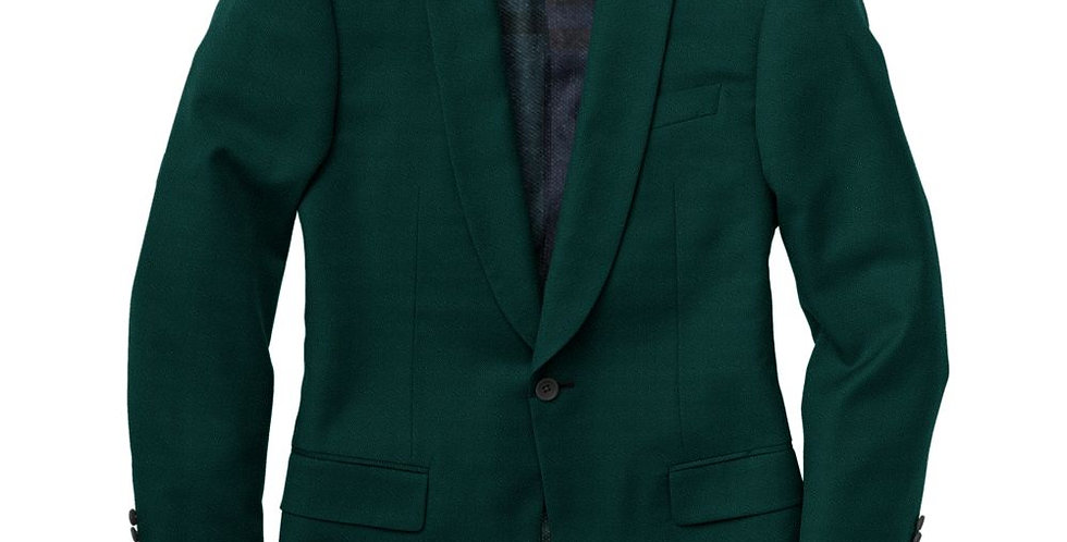 Debonair Green Velvet Tuxedo Jacket