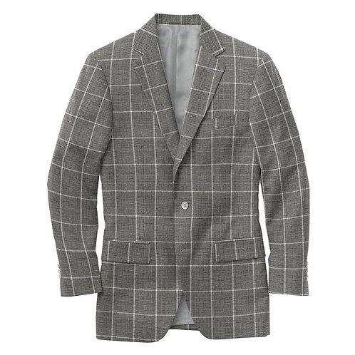 Debonair Grey Windowpane Suit